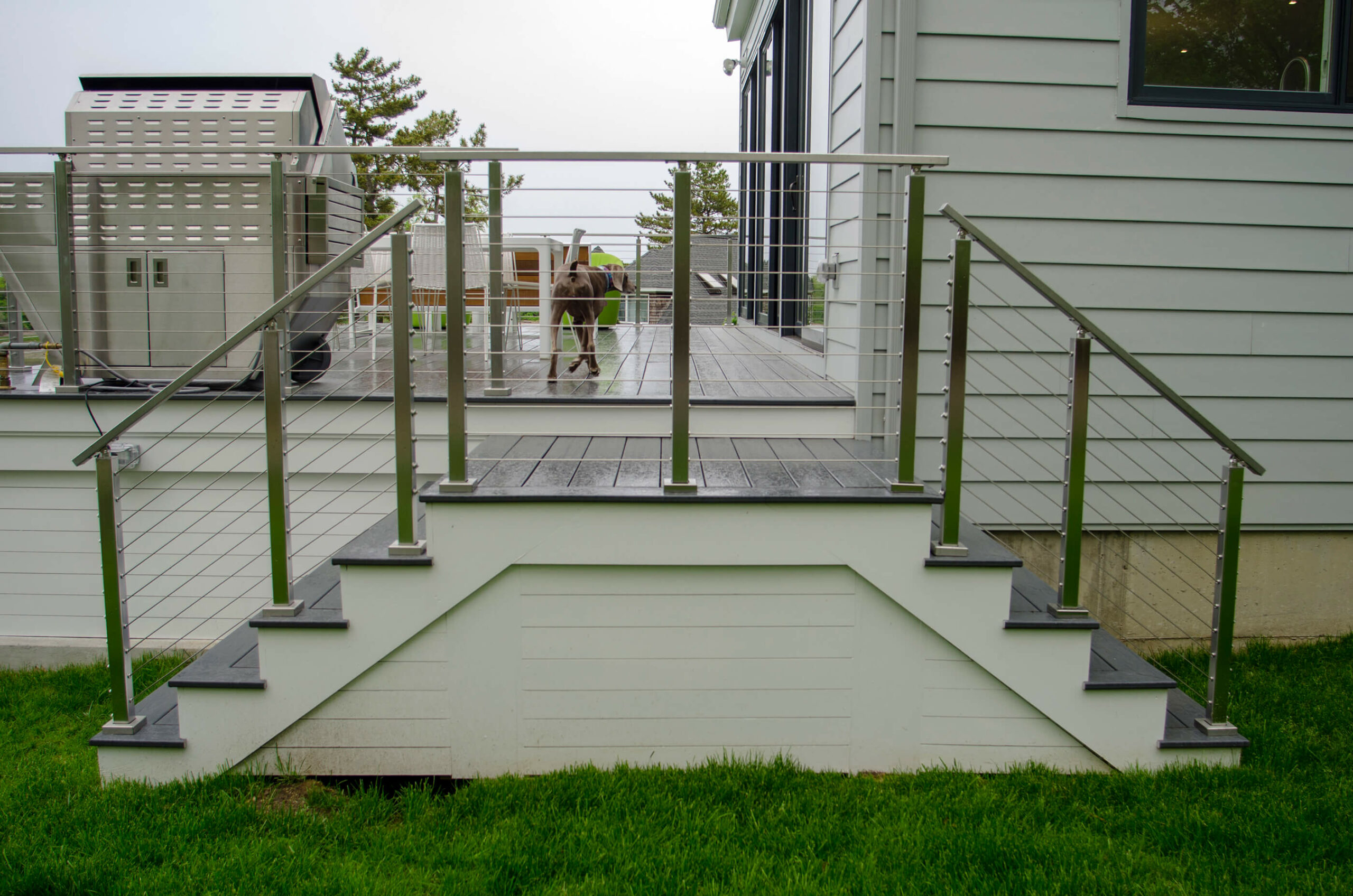 Photo of a cable rail stair