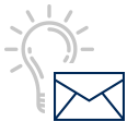 lightbulb and envelope - icon
