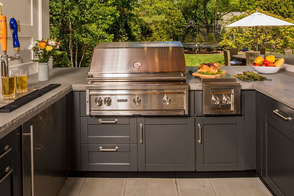 photo of Danver gray outdoor kitchen with grill