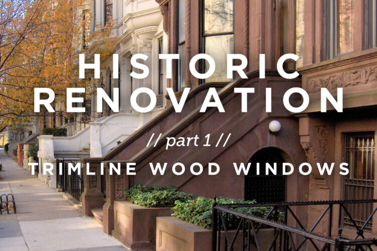Historic Renovation // Part 1: Trimline Wood Windows