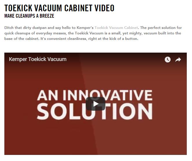 Kemper toekick vaccuum video