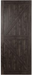 Renin stone gray sliding barn door photo