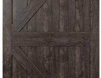 Renin stone gray sliding barn door photo
