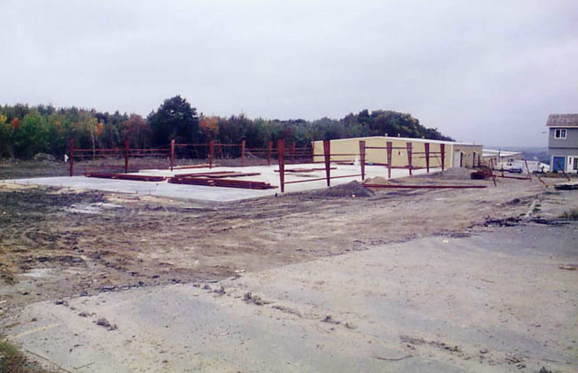 Photo of commercial building expansion