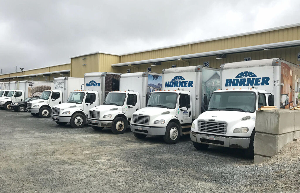 Photo of delivery trucks