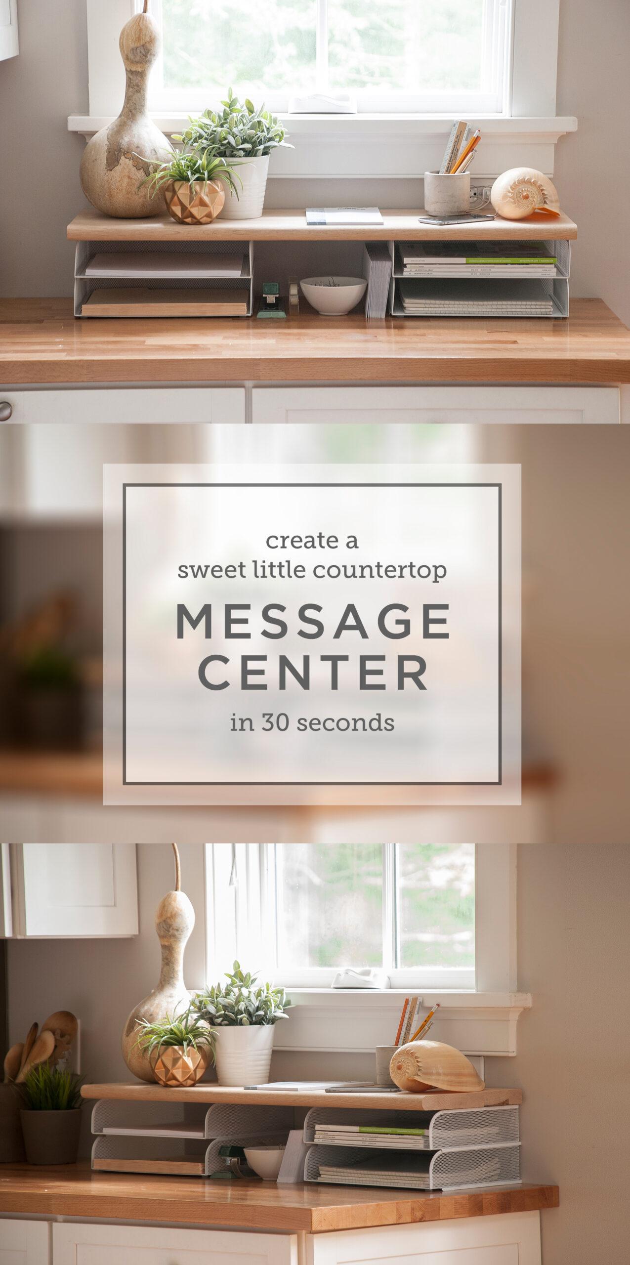 Photos of message center