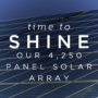 Time to shine: Our new 4,250 panel solar array