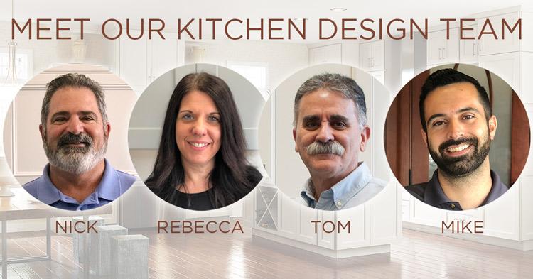 Photos of the Horner Millwork kitchen design team
