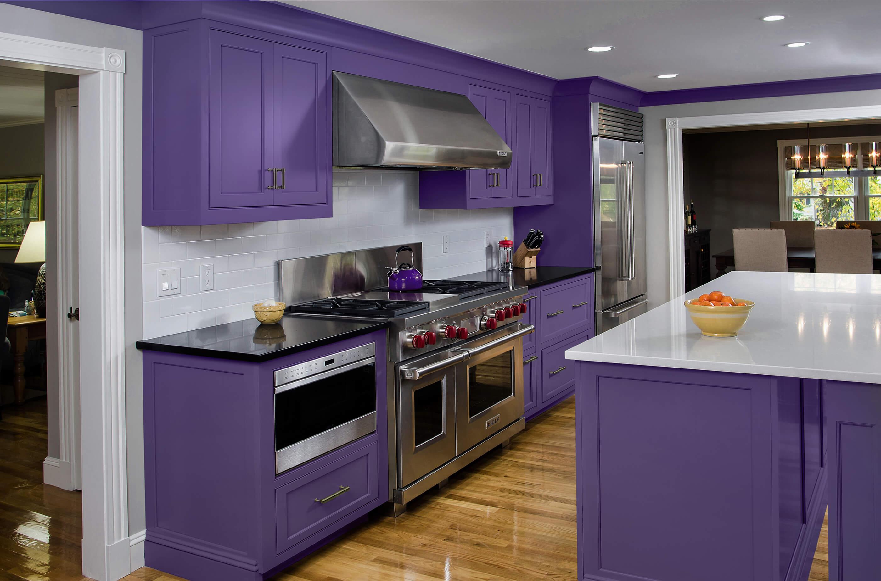 Photo of Bari purple kitchen