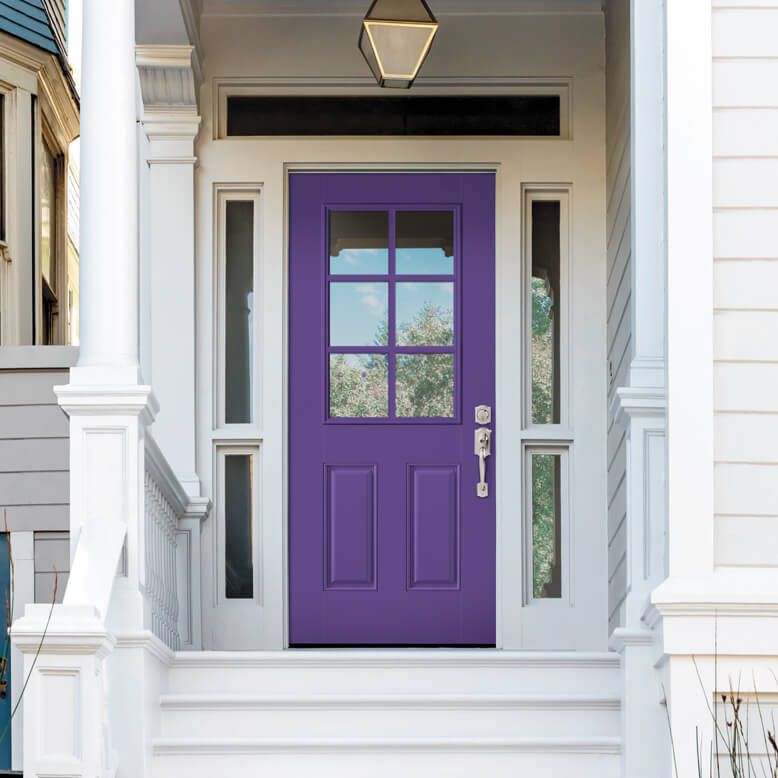 Photo of Masonite purple door