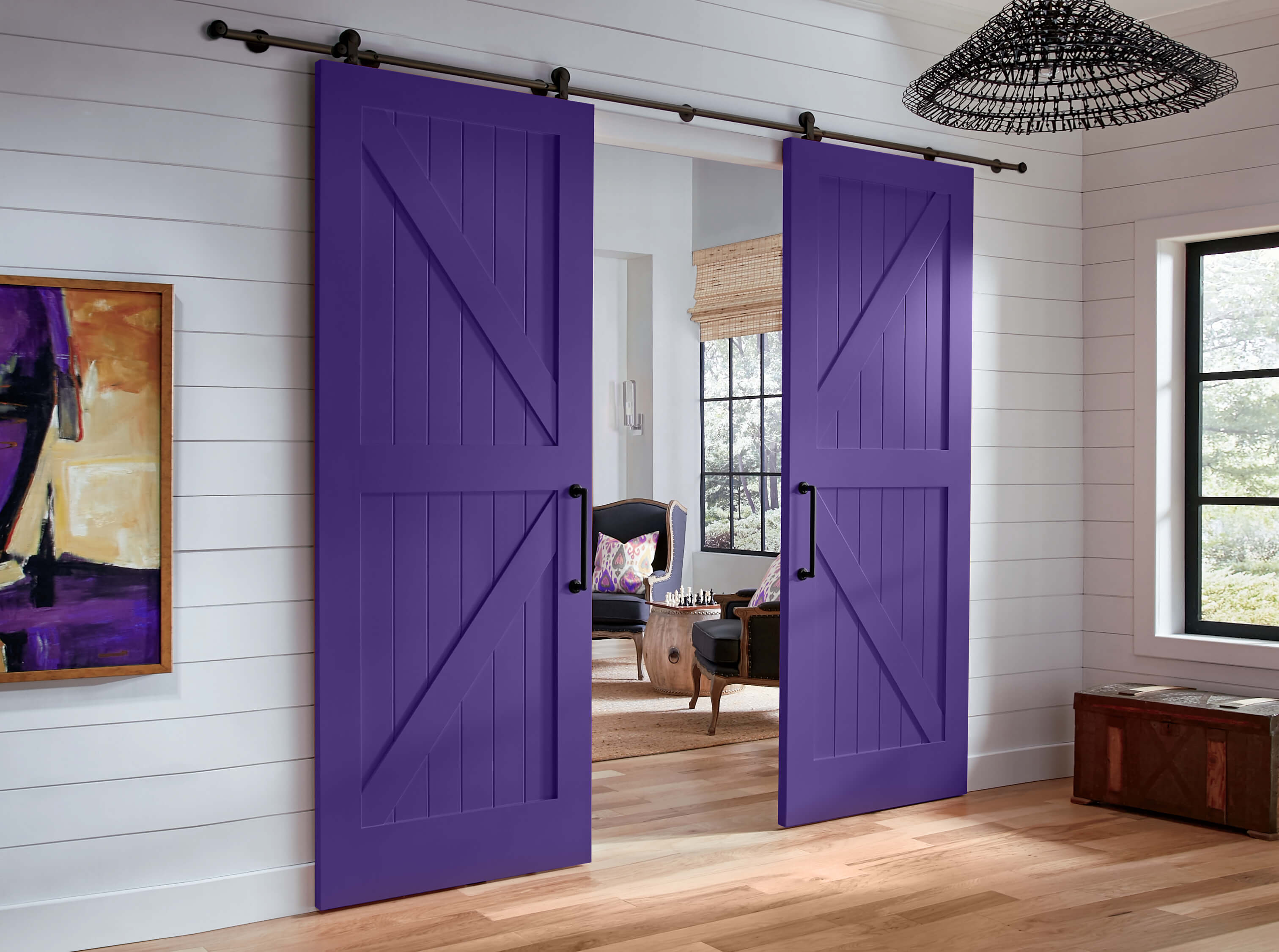 Photo of TruStile purple barn doors