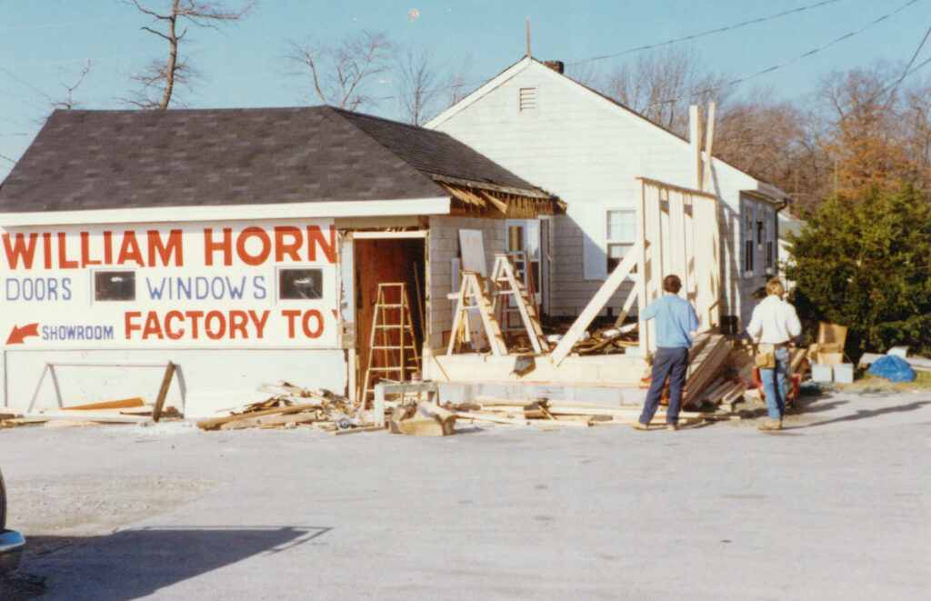 Photo of construction of the Horner building in 1982
