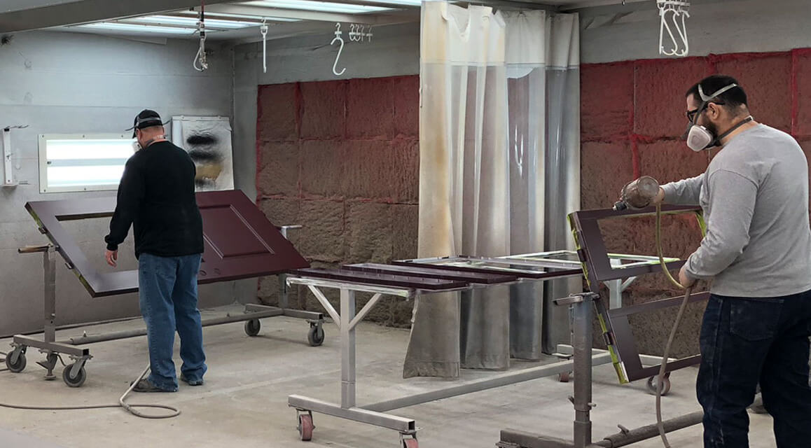 Fortress Coatings spray booth photo