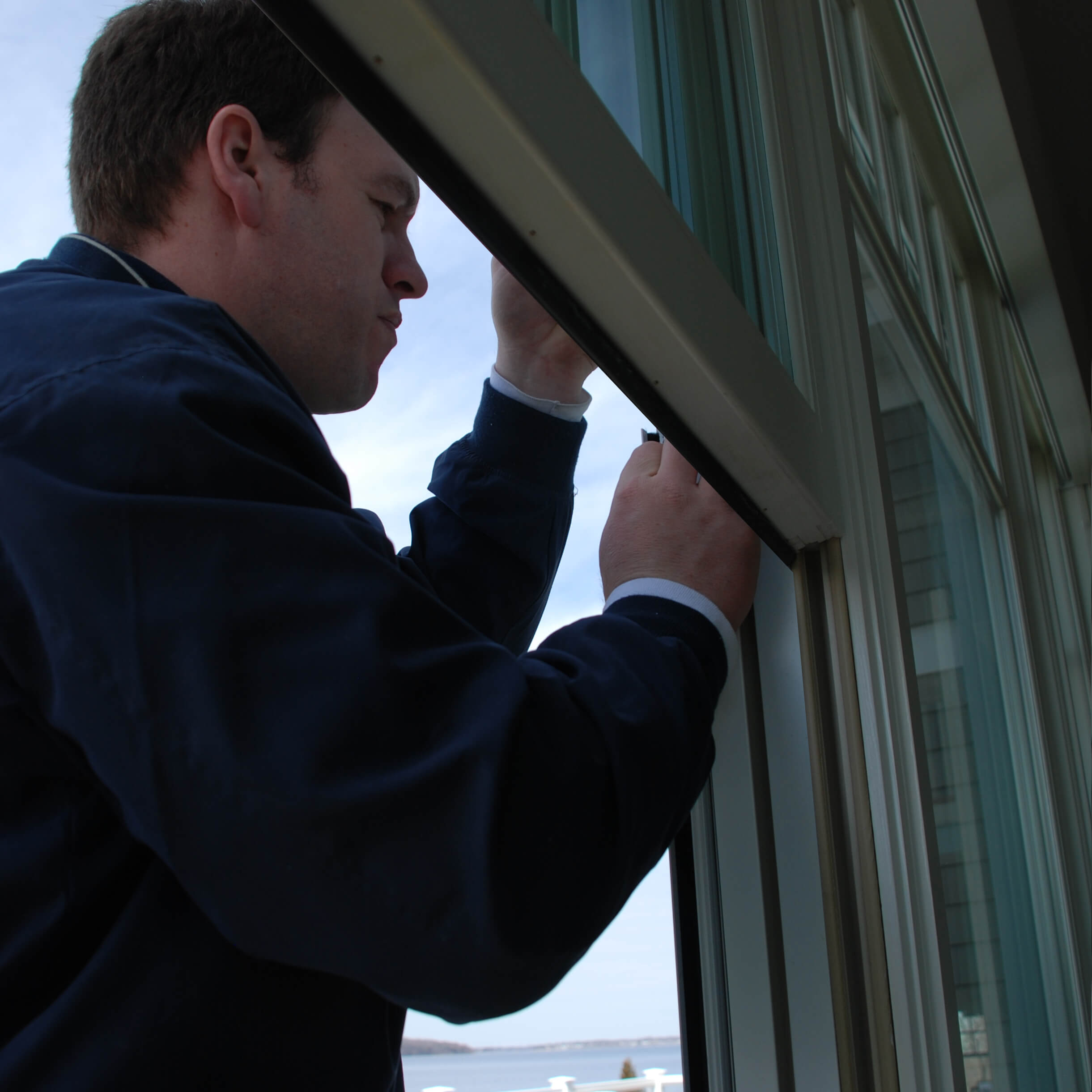 Photo of a window installer